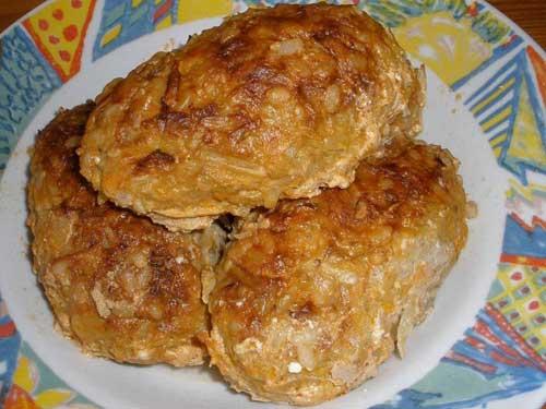 Котлеты в духовке с капустой рецепт с фото пошагово