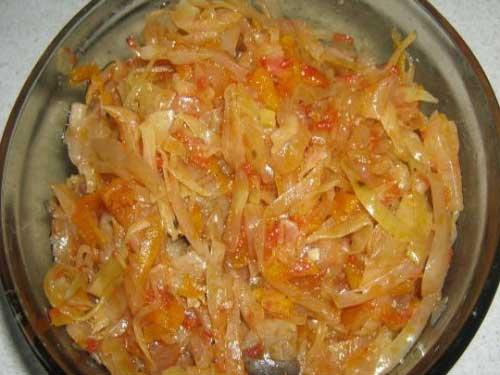 приготовить начинку из капусты для пирога