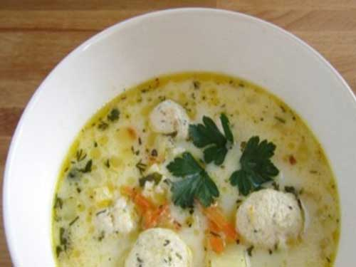 Суп с сыром и фрикадельками с фото