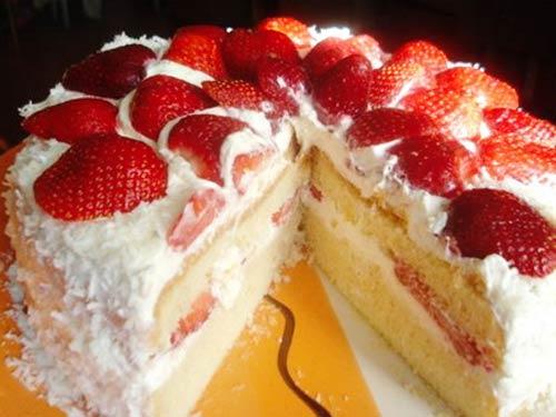 Бисквитные торты с клубникой рецепт и фото